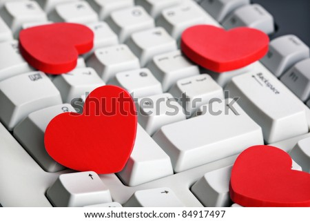Love Online Dating Concept Red Heart Stock Photo Edit Now