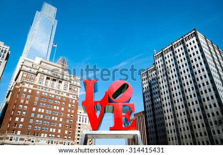 LOVE Park - stock photo
