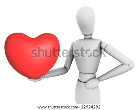 Love people on white background - stock photo