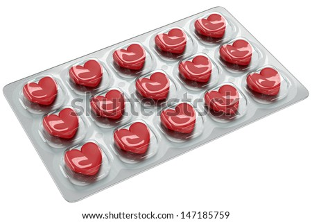 Love Pills - stock photo