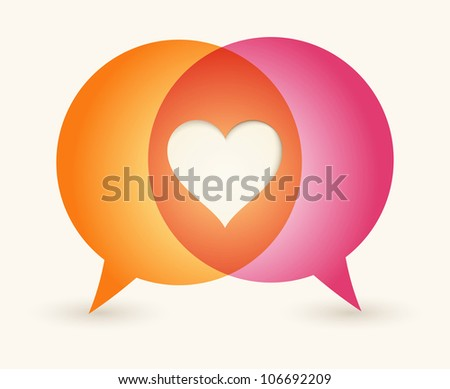 love print background. Concept speech bubbles