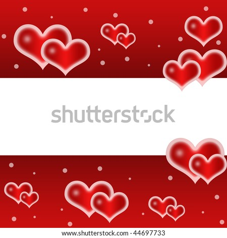 Love,romantic,red background with cute hearts and place for text
