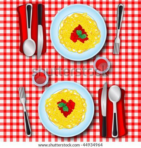 Love's spaghetti - stock photo