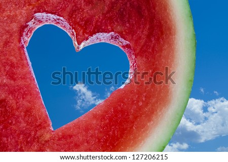 how to cut heart shaped watermelon