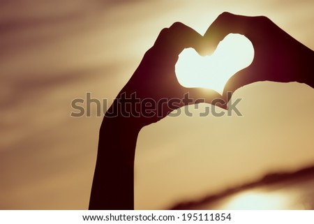 love sign heart symbolhand stock photo (royalty free) 195111854
