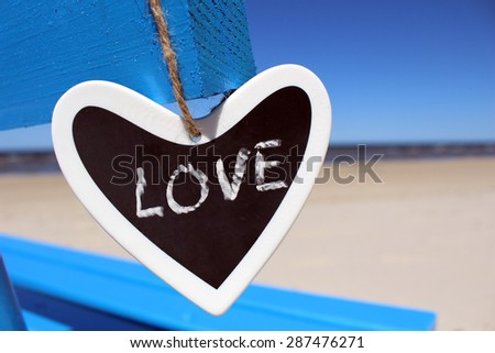 Love sign in heart. Black and White. Freehand drawing. - stock photo