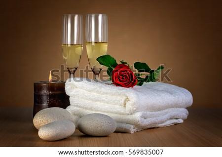 Love Spa romantic Spa Decoration Candle Stock Photo 569835007 ...