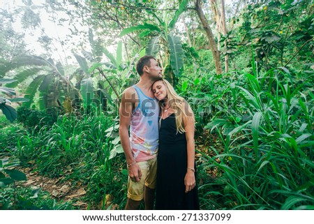 Love story in the tropic jungle