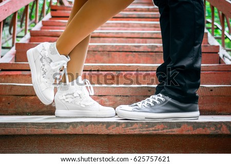 Man Kissing Woman S Shoes