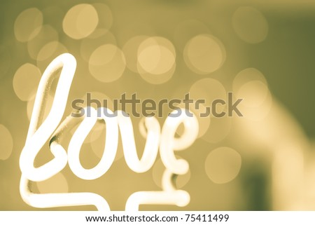 Love style abstract defocused background - stock photo