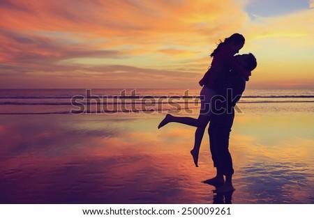 Love Sunset - stock photo