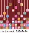 Love Symbol Computer Squares - stock photo