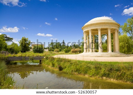 Love temple in Marie-Antoinette's estate. Versailles Chateau. France - stock photo