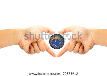 Love the earth - stock photo