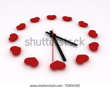 Love Time card Valentine - stock photo