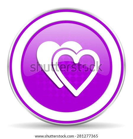 love violet icon sign hearts symbol
