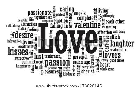 Love word cloud illustration - stock photo