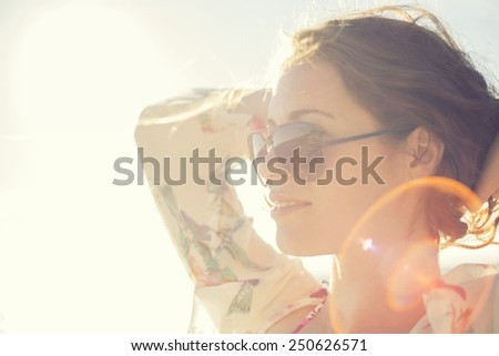 Loved By the Sun - stock photo