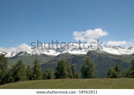 lovely alpine landscape