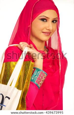 lovely arab woman - stock photo