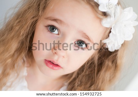 Lovely beautiful girl - stock photo