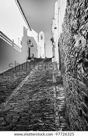 Lovely Black and white of inner city - stock photo