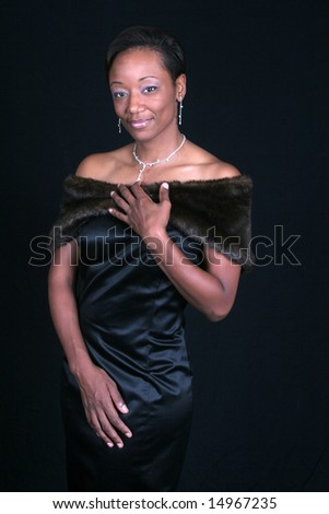 Lovely black woman - stock photo