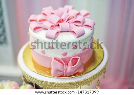 lovely cake for wedding event - stock photo