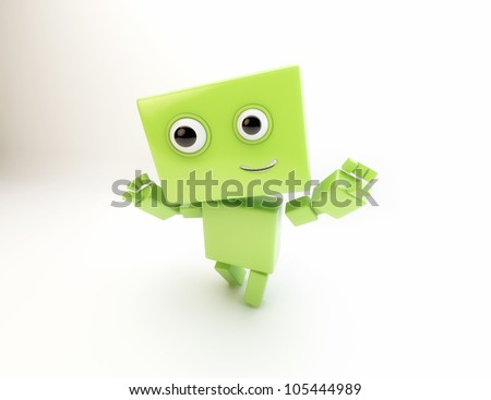 Lovely cartoonish robot android greeting/Android 5.0