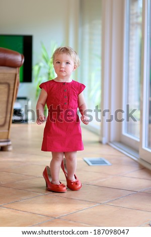 amusing nice living room stock photography image 18909472   Lovely Child Cute Funny Little Toddler Stock Photo (Edit ...
