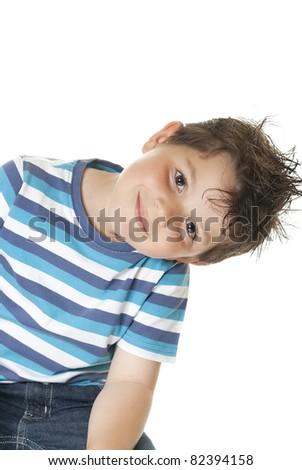 Lovely child isolated on a white background