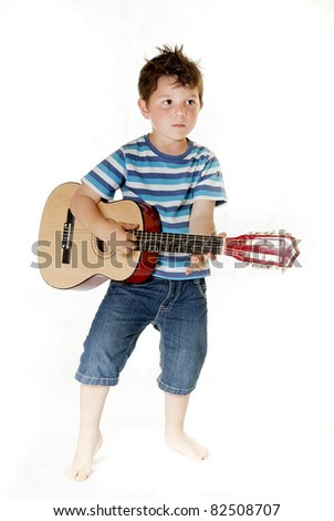 Lovely child isolated on a white background - stock photo
