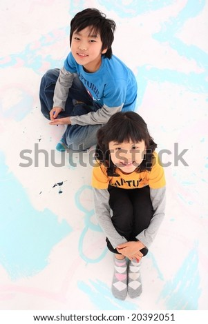 Lovely Children - stock photo