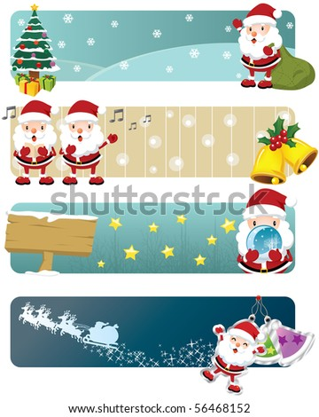 Lovely Christmas Banners - stock photo