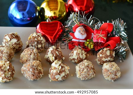Lovely close up image of Christmas cookies on a table