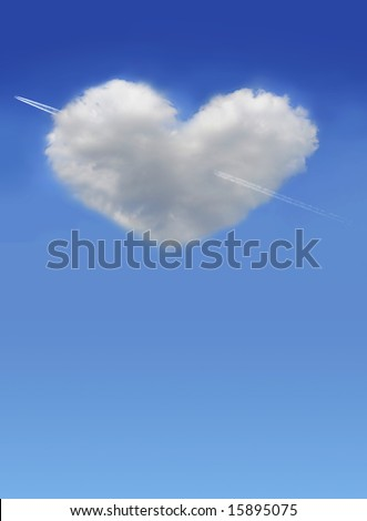 lovely cloud - stock photo