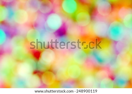 Lovely colorful bokeh for party or love concept