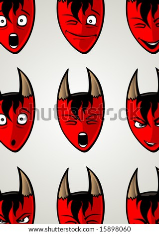 lovely devil in different moods