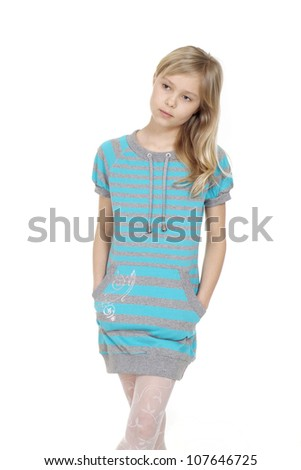 Lovely female  showed herself in the photos in all her glory - stock photo