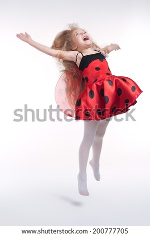 lovely girl in a beautiful holiday dress - stock photo