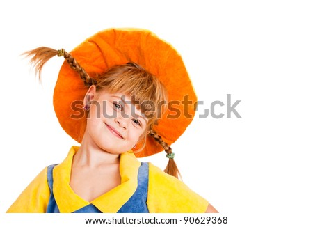 Lovely girl in a hat - stock photo