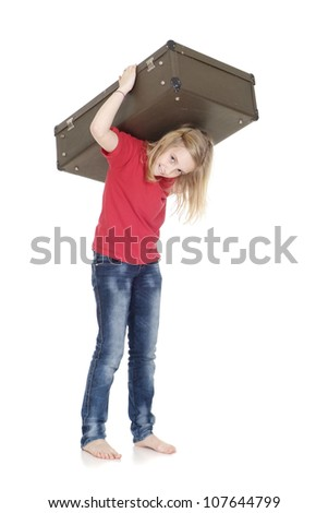 Lovely girl in many ways poses for photos - stock photo