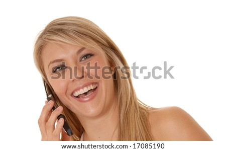 Lovely Girl talking on a Cell Phone