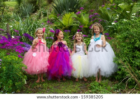Lovely girl wearing a ballet tutu. - stock photo