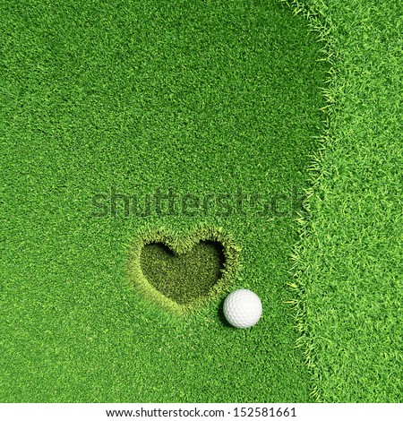 Lovely Golf, Fall in love  - stock photo