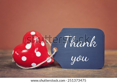 lovely greeting card - thank you - stock photo
