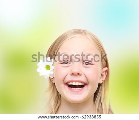 Lovely little girl. - stock photo