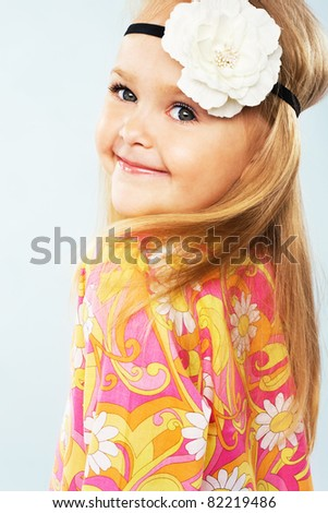 Lovely little girl - stock photo