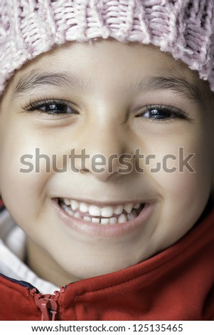 Lovely Little Girl with Big Beautiful Smile