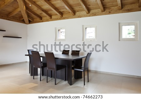lovely new house, modern furniture, dining-room view